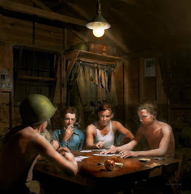 Wwii - The Card Game 1943 Art Print by Mike Savad