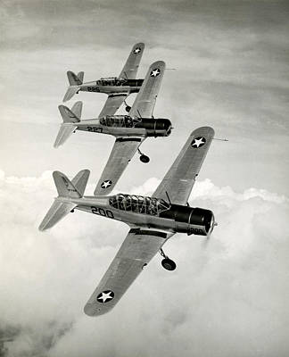Photograph - Wwii Vultee Valiant Aircraft In Flight by Historic Image