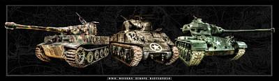 Photograph - Wwii Western Europe Battlefield Tanks by Weston Westmoreland