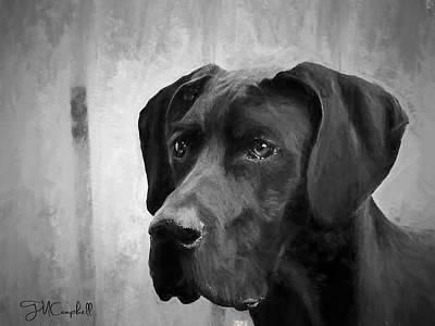 Great Dane Digital Art - Wyatt 2013 by Theresa Campbell
