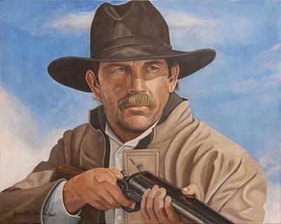 Kevin Costner Painting - Wyatt Earp - Kevin Costner by Kenneth Kelsoe