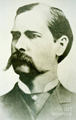 Moustache Photograph - Wyatt Earp by American School