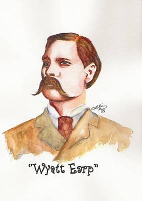 Wyatt Earp Art Print by Cheri Meyer