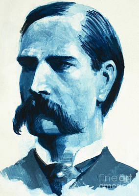 Wyatt Earp Art Print by English School