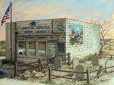 Painting - Wyatt Earp Post Office Earp Ca by Janet Kruskamp
