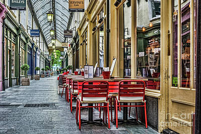 Tableware Photograph - Wyndham Arcade Cafe 1 by Steve Purnell