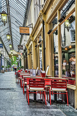 Tableware Photograph - Wyndham Arcade Cafe 2 by Steve Purnell
