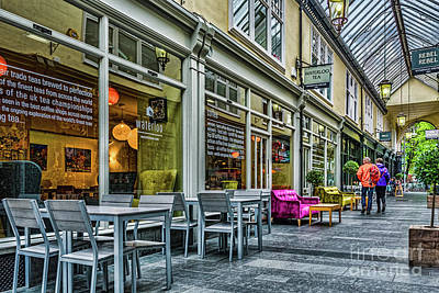 Tableware Photograph - Wyndham Arcade Cafe 3 by Steve Purnell