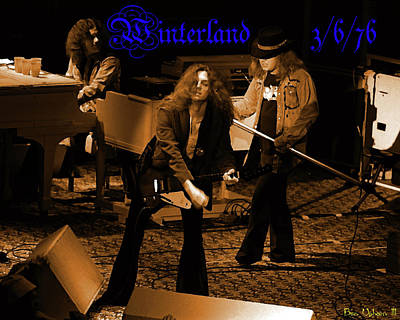 Photograph - Wynterland Enhanced In Amber by Ben Upham