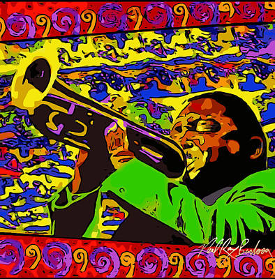 Painting - Wynton Marsalis Plays Louis Armstrong Rework by Neal Barbosa