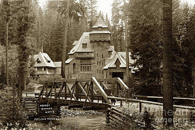 Photograph - Wyntoon Hearst Summer Home Mccloud River, 1915, California by California Views Archives Mr Pat Hathaway Archives