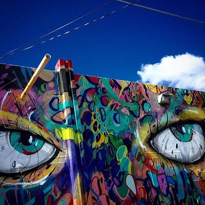 Eye Wall Art - Photograph - Wynwood Look #juansilvaphotos by Juan Silva