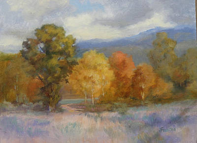 Painting - Wyoming Autumn 11x14 by Judy Fischer Walton
