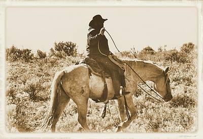Photograph - Wyoming Cowboy by Carole Martinez