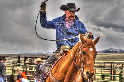 Working Cowboy Photograph - Wyoming Cowboy by Cat Hesselbacher