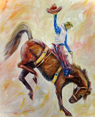 Painting - Wyoming Cowboy by Jennifer Godshalk
