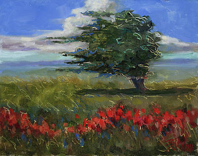 Painting - Wyoming Gentle Breeze by Billie Colson