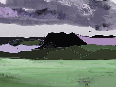Wyoming Landscape 2 Art Print