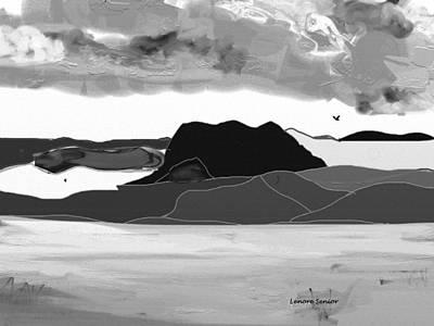 Wyoming Landscape 3 - B-w Art Print