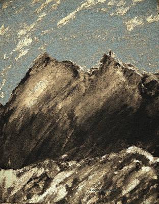 Mountain Ranges Mixed Media - Wyoming Mountain Scene by Lenore Senior