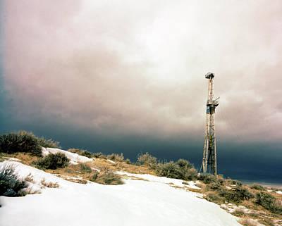 Jack Drill Digital Art - Wyoming Oil Rig #1 by Dennis Thompson