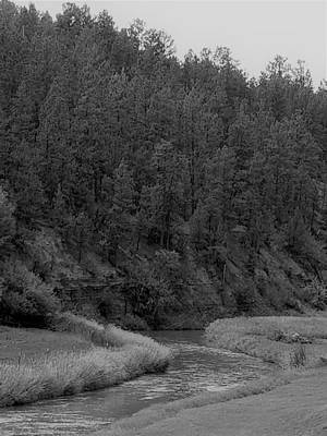 Photograph - Wyoming River 2 B W by Rob Hans