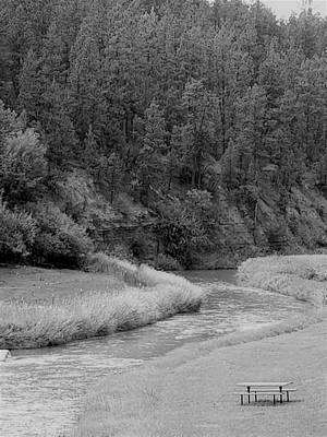 Photograph - Wyoming River B W by Rob Hans
