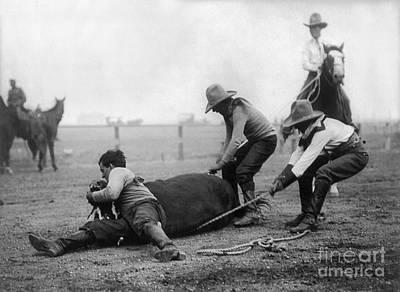 Photograph - Wyoming: Rodeo, C1910 by Granger