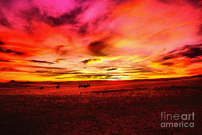 Photograph - Wyoming Sunset Sinking Low by Jeff Swan