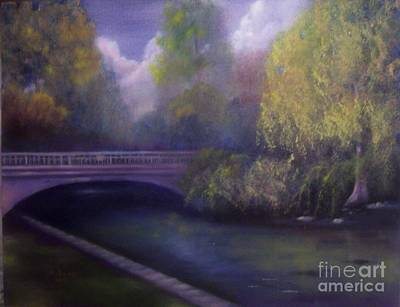 Painting - Wyomissing Creek Misty Morning by Marlene Book