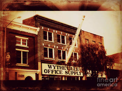 Digital Art - Wytheville Office Supply Sepia by Karen Francis