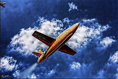 X-plane Digital Art - X-1 Glamorous Glennis In Oil by Tommy Anderson
