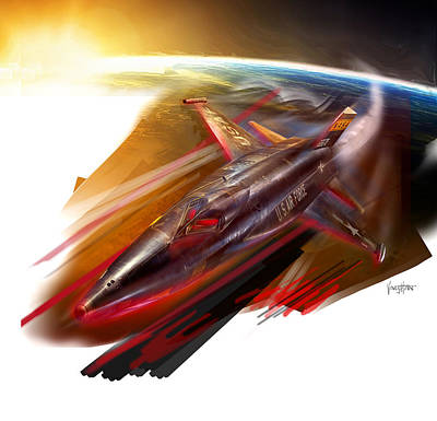 Digital Art - X-15 Rocket Ride by James Vaughan