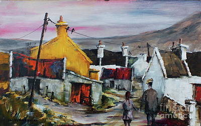 Painting - 304 Evening Stroll, Dugort by Val Byrne