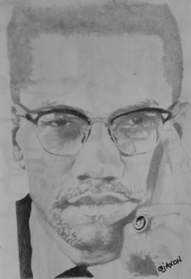 Malcolm X Drawing - 'x Factor' by B Jaxon