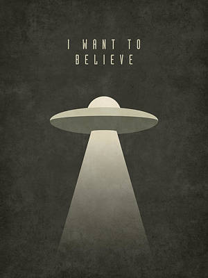 X-files I Want To Believe Art Print