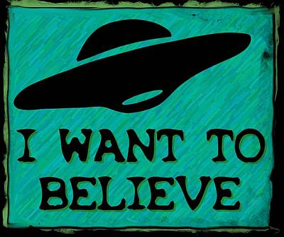 Photograph - X Files I Want To Believe by Kyle J West