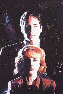 File Painting - X-files by Ken Meyer jr