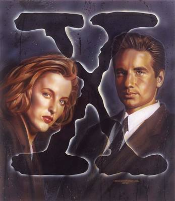 File Painting - X-files by Tim  Scoggins