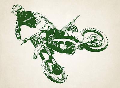 X Games Motocross 4 Art Print