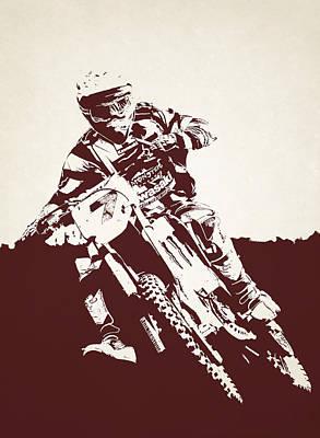 X Games Motocross 8 Art Print