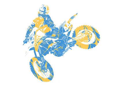 Austin Mixed Media - X Games Motocross Pixel Art 3 by Joe Hamilton