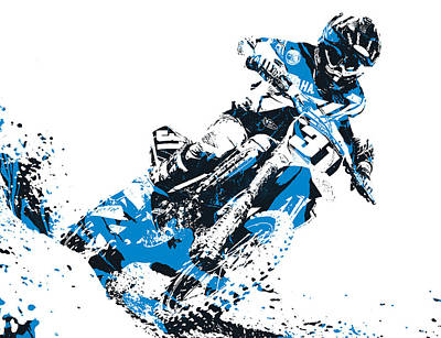 Austin Mixed Media - X Games Motocross Pixel Art 4 by Joe Hamilton