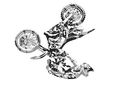 Austin Mixed Media - X Games Motocross Pixel Art 6 by Joe Hamilton
