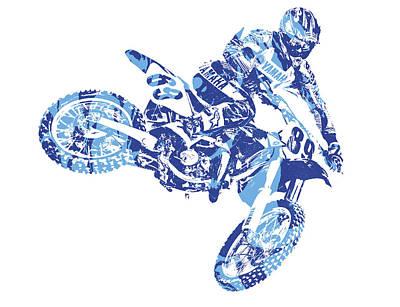 Austin Mixed Media - X Games Motocross Pixel Art 8 by Joe Hamilton