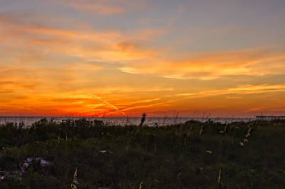 Southwest Florida Sunset Photograph - X Marks The Spot Sunset At The Pier  -  Xmkpier96 by Frank J Benz