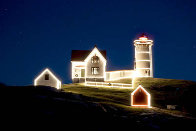 X-mas Nubble Art Print by Greg Fortier