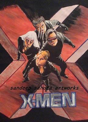 Kama Sutra Painting - X-men by Sandeep Kumar Sahota