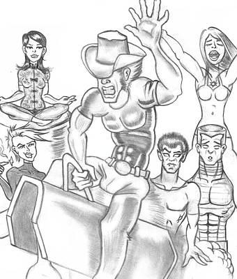 Psylocke Drawing - X-men by Terrence Stone