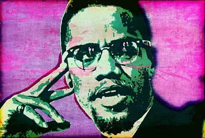 Malcolm X Mixed Media - X by Otis Porritt